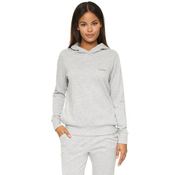 Calvin Klein Evolve Extension Pull Over Hoodie QS5391 Heather Grey XS S L - Red Tag Central