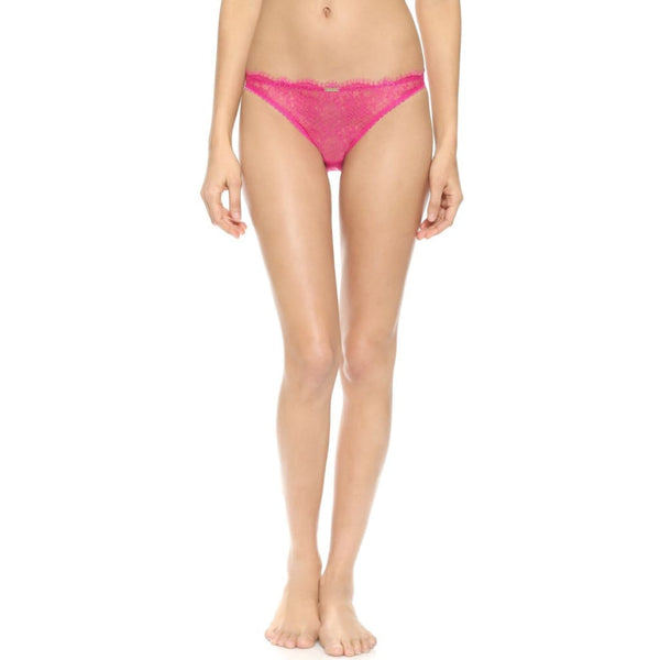 Calvin Klein Eyelash Chantilly Bikini Panty F3561 Pink Blue Small Medium Large - Red Tag Central