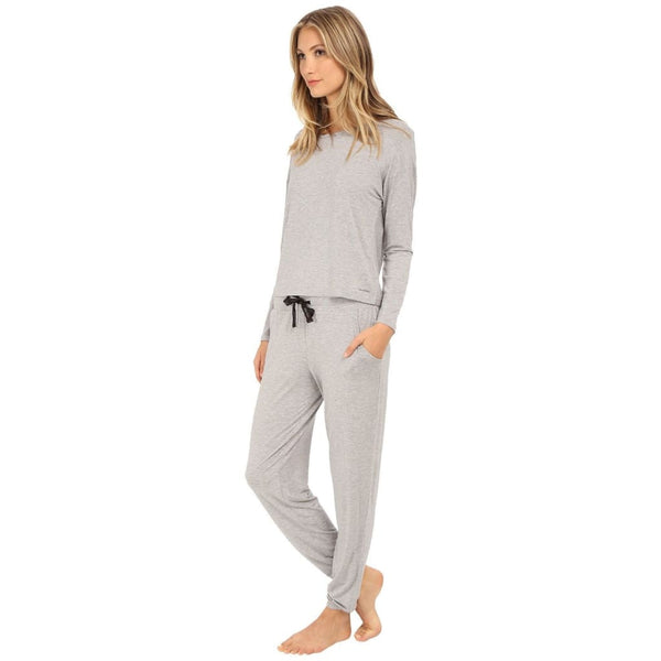 Calvin Klein Modal Sporty Lounge 2PC Gift Set QS5386 Grey Red Glazed S M L - Red Tag Central