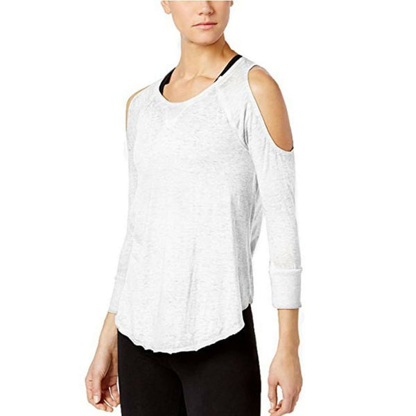 Calvin Klein Performance Cold-Shoulder 3/4 Sleeves Top PF7T2457 White XL - Red Tag Central