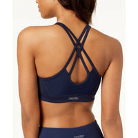 Calvin Klein Performance Printed Strappy-Back Medium-Support Sports Bra PF8T3095 XS S M - Red Tag Central