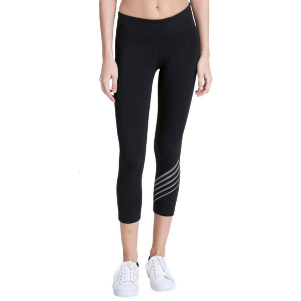 Calvin Klein Performance Stripe Logo Cropped Leggings PF7P9434 Black XS - Red Tag Central
