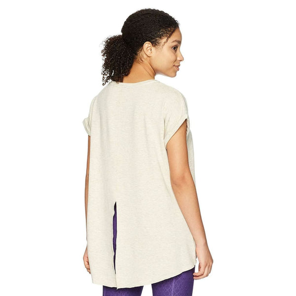 Calvin Klein Performance V-Neck High-Low Hem T-Shirt PF8T5068 Sand XL Purple XXL - Red Tag Central