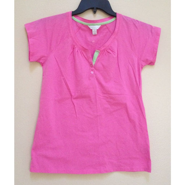 Charter Club Cotton Henley Pajama Sleep Tops Pink XS - Red Tag Central