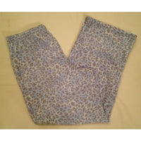 Charter Club Fleece Top and Pajama Pants Set 141141 Blue Leopard XXXL - Red Tag Central