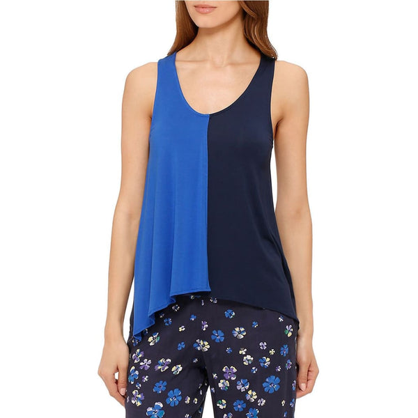 DKNY Rooftop Gardener Colorblock Modal Tank Top Y2213305 Royal Blue M XL - Red Tag Central