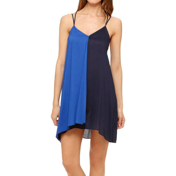 DKNY Rooftop Gardener Colorblock Rayon Chemise Y2313305 Royal S M L - Red Tag Central