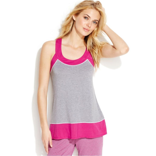 DKNY Westside Starlet Colorblock Tank Top Y2113331 Grey Black S M - Red Tag Central