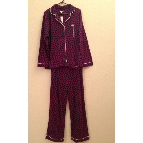 DKNY Women's Cozy Fireside 2PC Pajama Sleep Set Y2913114 XS Medium Large - Red Tag Central