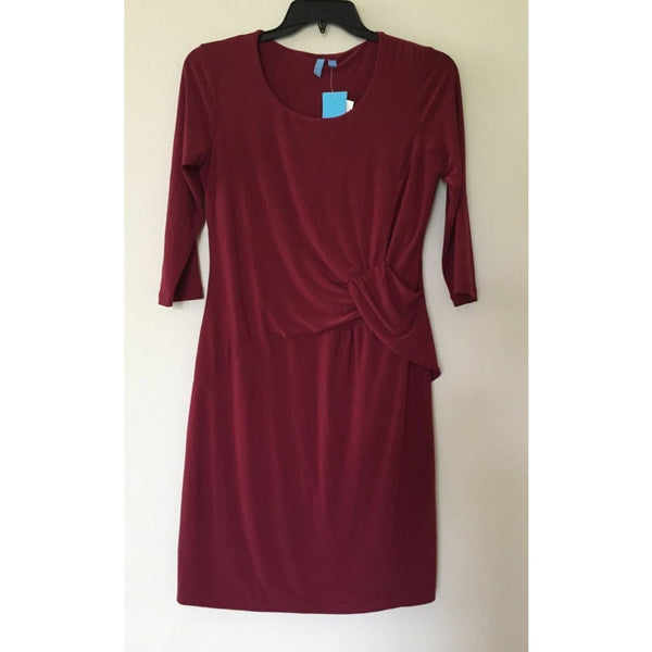 Elementz Three-Quarter Sleeves B-Slim Dress BITD1603 Red Small - Red Tag Central