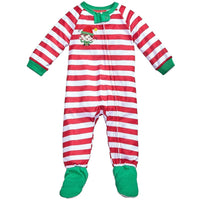 Family Pajamas Macy's Baby Toddler 1-Pc Footed Pajama B17104152 CandyCane Stripe 18M 24M - Red Tag Central