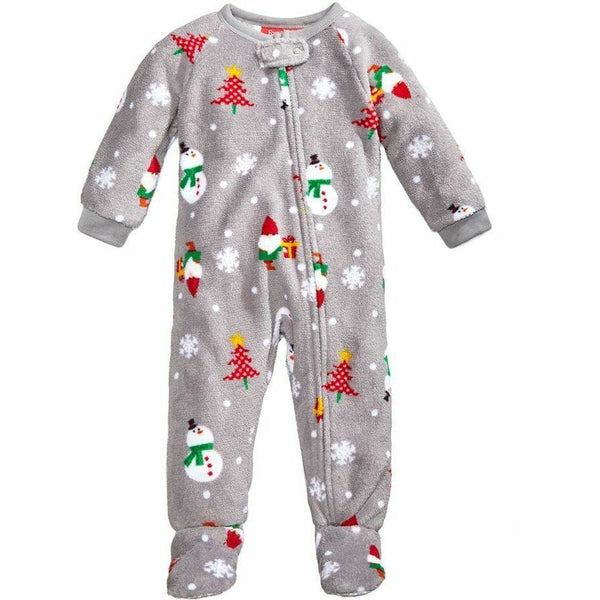 Family Pajamas Macy's Baby Toddler 1-Pc Footed Pajama B17104452 Happy Gnomes 12M 18M - Red Tag Central
