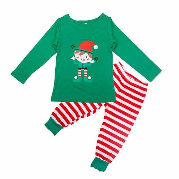 Family Pajamas Macy's Kid's L/S Pajama Set K17104152 Candy Cane Stripe 6-7 10-12 - Red Tag Central