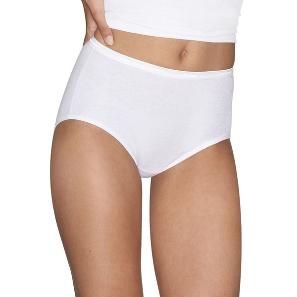 Hanes Platinum Women's Cotton Creations Brief 3-Pack White Sz 9 or 10 - Red Tag Central
