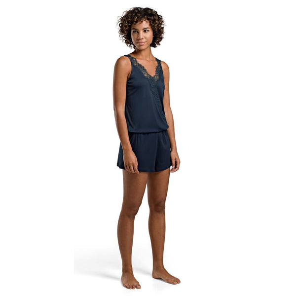 HANRO of Switzerland Livia Romper 76185 Deep Midnight Medium - Red Tag Central