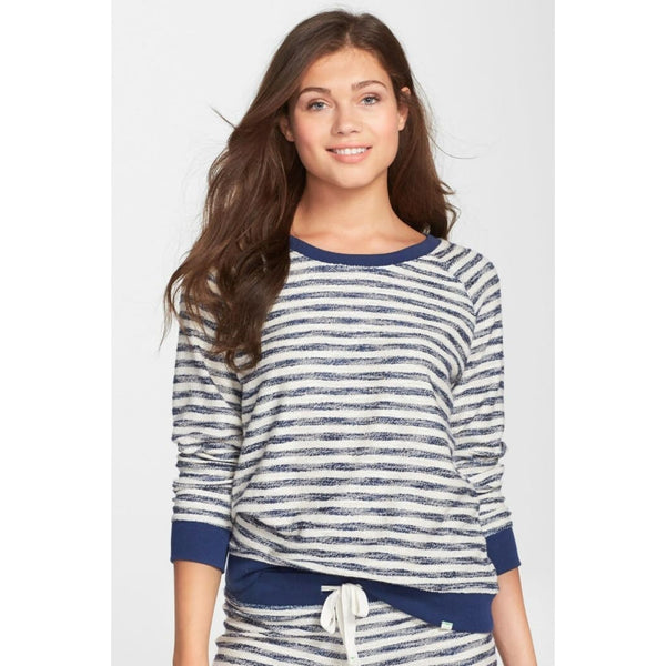 Honeydew Intimates Undrest Luxe Thermal Sweatshirt 541160 Navy / White Small - Red Tag Central