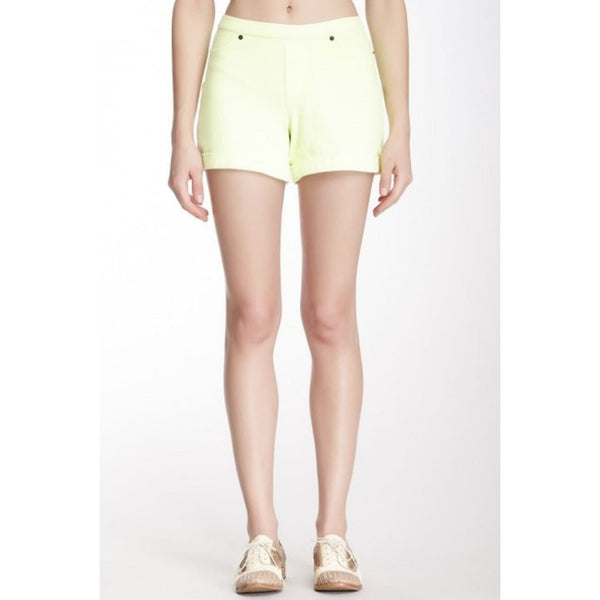 HUE Chino Stretch Neon Shorts U13664 Neon Yellow Small - Red Tag Central