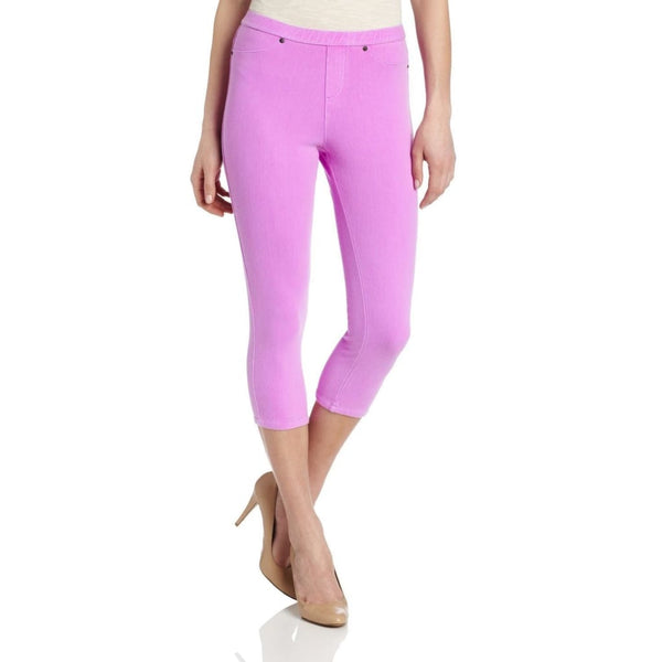 HUE Chinos Capri Neon Leggings U13838H Neon Pink Yellow Magenta Small - Red Tag Central