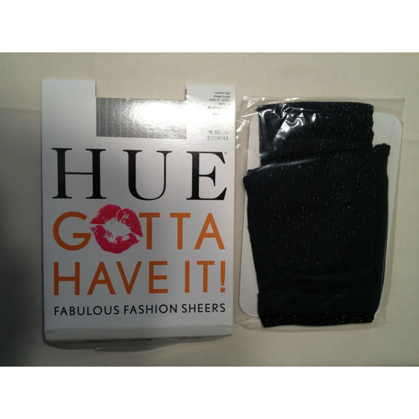 HUE Sheer Lurex with Control Top Pantyhose 13331 Size 1 - Red Tag Central