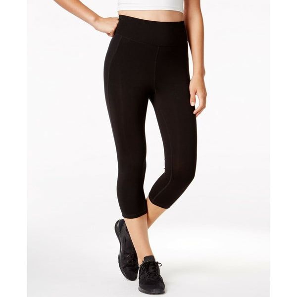Ideology Women's ID Shape Slimming Flex-Stretch Cropped Leggings 761075 Black XS - Red Tag Central