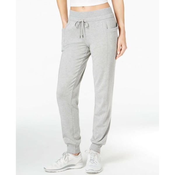 Ideology Women's Lightweight Jogger Pants 77305 Heather Grey L XL XXL - Red Tag Central