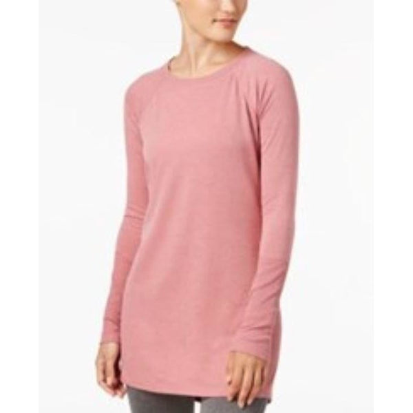 Ideology Women's Striped Tunic 77857 Dusty Rose Heather Small Medium Large XL - Red Tag Central