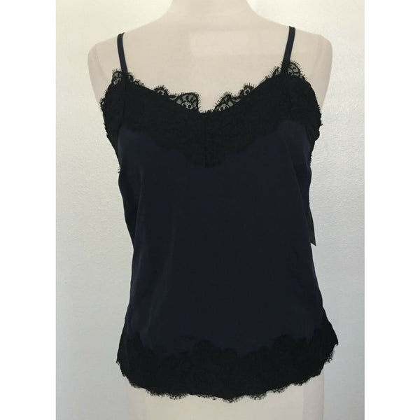 INC International Concepts Lace-Trim Camisole 100054192 Deep Twilight Small - Seasonal Overstock