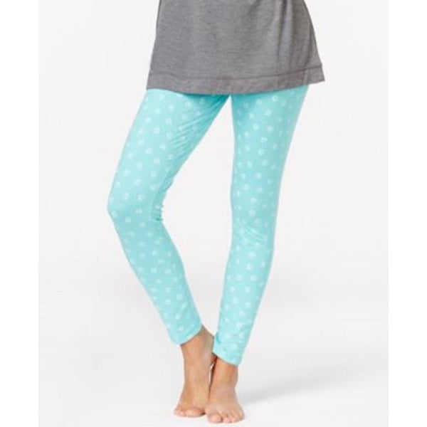 Jenni by Jennifer Moore Dot Print Slim Pajama Pants 451015 Aqua Dots Small - Red Tag Central