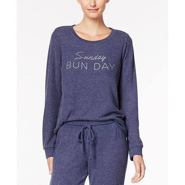 Jenni by Jennifer Moore Graphic-Print Pajama Top 100001000 Blue Sunday Bunday - Red Tag Central