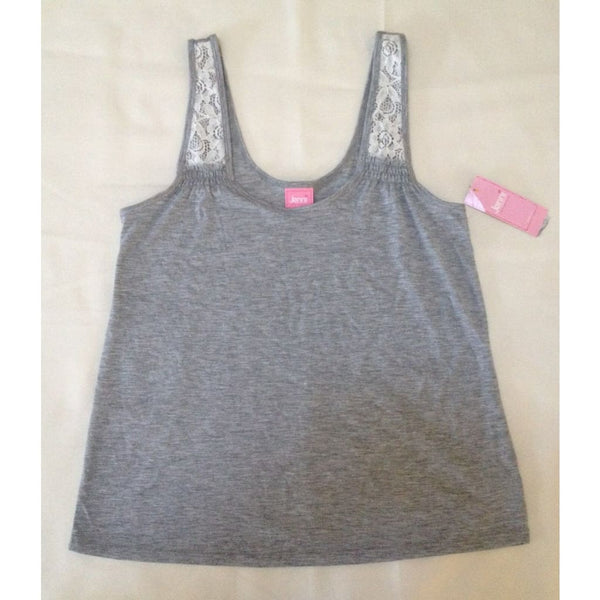 Jenni by Jennifer Moore Knit Tank Top 44704 Heather Grey XS or Small - Red Tag Central