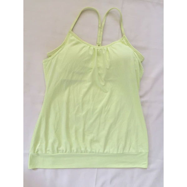 Jockey Two in One Mesh Tank 8441 Frosty Citrus Medium - Red Tag Central