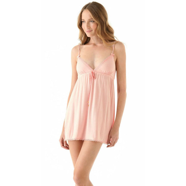 Juicy Couture Modal Nightie with Lace Detail 9JMS1299 Large Pink or Heather - Red Tag Central