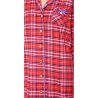 Juicy Couture Sleepshirt Fireside Cotton Flannel Nightshirt 9JMS1812  XS S - Red Tag Central