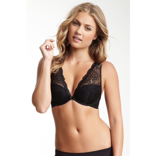 Le Mystere Kate Convertible Demi Low Plunge Cup Bra 7234 Black 36E - Red Tag Central