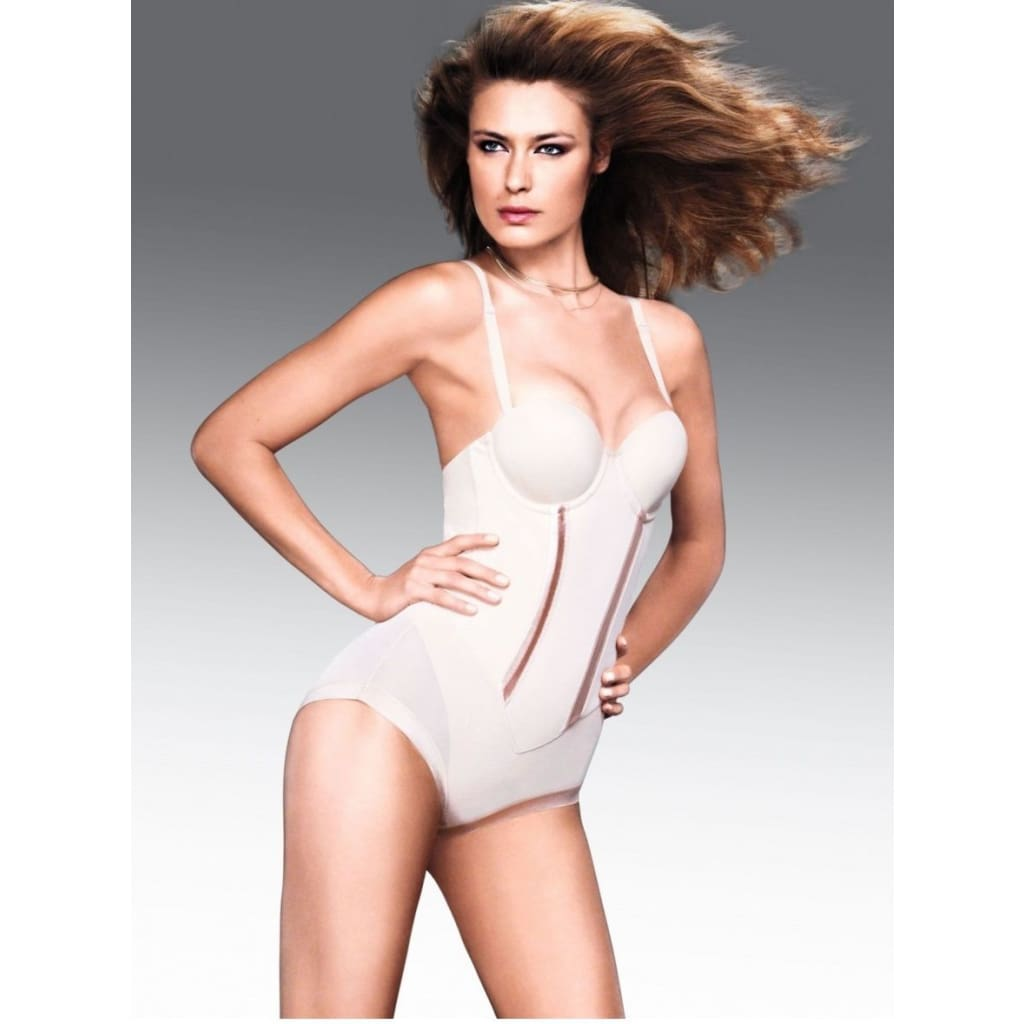 523d1566b Red Tag Central - Maidenform Flexees Easy Up Strapless Firm Control  Bodybriefer 1256 Black Latte