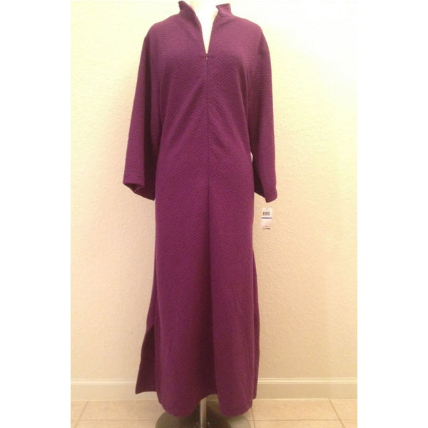 Natori Beijing Quilted Zip Caftan V70012 (916170) Purple WST Medium or Large - Red Tag Central