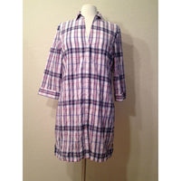 Nautica Button Down Cotton Pajama Sleepshirt 212074 VINEYARD PINK Medium - Red Tag Central