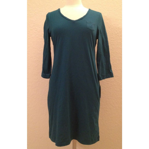 Nautica Cotton Knit Solid Chemise Gown KO3330 Seafarer Teal XS Small Medium - Red Tag Central