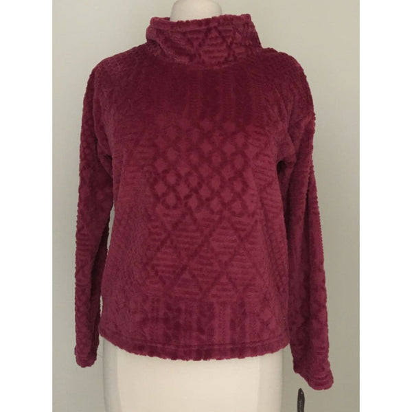 Nautica Plush Textured Top 2091467 Burgundy Charcoal XS Large XXL - Red Tag Central