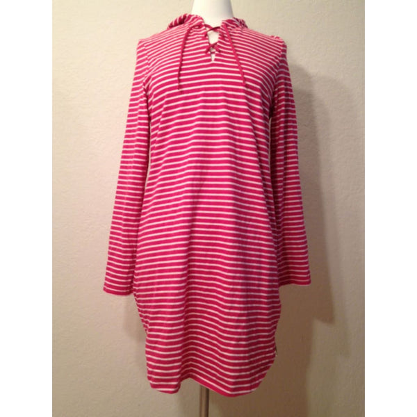 Nautica Striped Hooded Nightshirt Pajama Sleepshirt 241375 S M L XL - Red Tag Central
