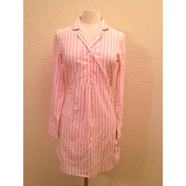 Nautica Women's Sailawy Woven Boyfriend Sleepshirt 303974 Orchid Pink  XS - Red Tag Central