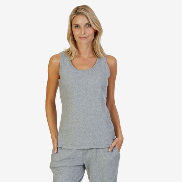 Nautica Women's Sweater Knit Sleep Tank Top 2021272 Heather Grey M L XL XXL - Red Tag Central