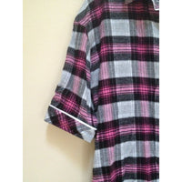 Bloomie's by Bloomingdale's Flannel Cotton Plaid Sleepshirt S2311153 Small - Red Tag Central