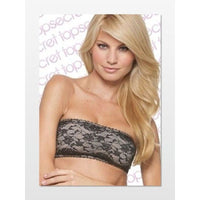 Top Secret Secret Weapon Lace BANDEAU BRA XS or Small BLACK/NUDE - Red Tag Central
