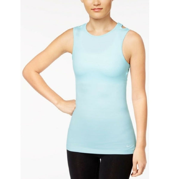 Nike Women's Cutout Racerback Tank Top 862797 Black Small Glacier Blue  XL - Red Tag Central