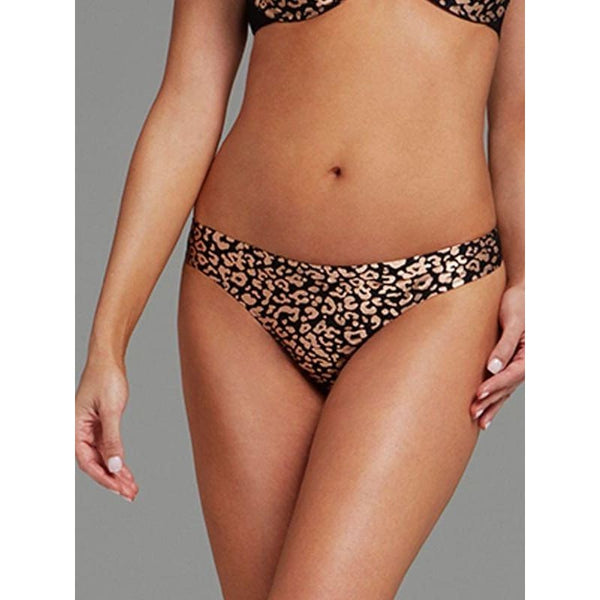 Parisa Seville Thong Panty PB0149 Leopard Print Small or Large - Red Tag Central