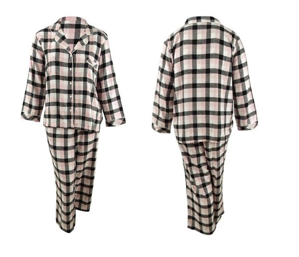 Charter Club Cotton Flannel Pajama Set 100069428 Trio Gingham XL