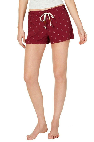 Jenni Women's Lightweight Printed Pajama Shorts 100053061 Outlined Flamingo XL