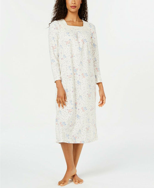 Charter Club Women's Printed Fleece Nightgown 100069368 Floral Animal Small Large