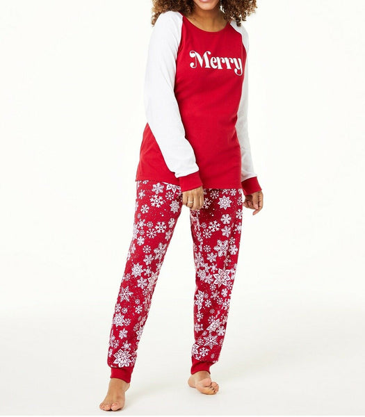 Family Pajamas Macy's Women's Merry Pajama Set 100069479 Red XS M L XXL